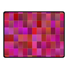 Shapes Abstract Pink Fleece Blanket (Small)