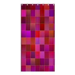 Shapes Abstract Pink Shower Curtain 36  x 72  (Stall)