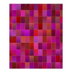 Shapes Abstract Pink Shower Curtain 60  x 72  (Medium)