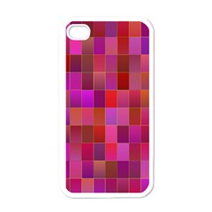 Shapes Abstract Pink Apple iPhone 4 Case (White)