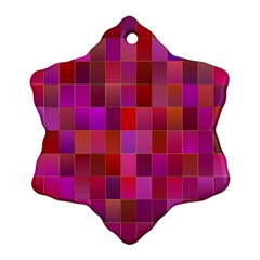 Shapes Abstract Pink Snowflake Ornament (two Sides)