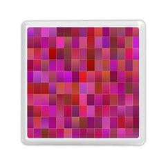 Shapes Abstract Pink Memory Card Reader (Square)
