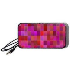 Shapes Abstract Pink Portable Speaker (Black)