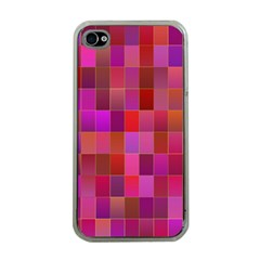 Shapes Abstract Pink Apple iPhone 4 Case (Clear)