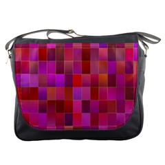 Shapes Abstract Pink Messenger Bags