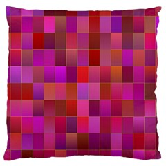 Shapes Abstract Pink Large Cushion Case (Two Sides)