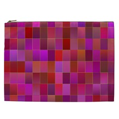 Shapes Abstract Pink Cosmetic Bag (xxl)