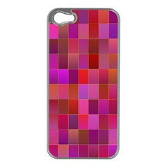 Shapes Abstract Pink Apple Iphone 5 Case (silver)