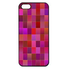 Shapes Abstract Pink Apple Iphone 5 Seamless Case (black)