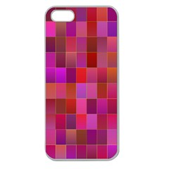 Shapes Abstract Pink Apple Seamless Iphone 5 Case (clear)