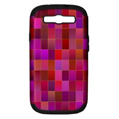 Shapes Abstract Pink Samsung Galaxy S III Hardshell Case (PC+Silicone)