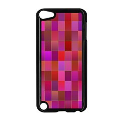 Shapes Abstract Pink Apple iPod Touch 5 Case (Black)