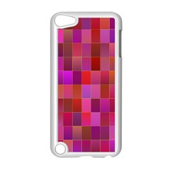 Shapes Abstract Pink Apple iPod Touch 5 Case (White)