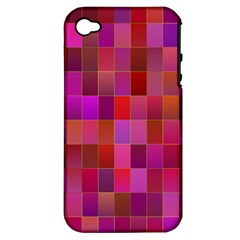 Shapes Abstract Pink Apple Iphone 4/4s Hardshell Case (pc+silicone)