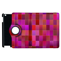 Shapes Abstract Pink Apple Ipad 2 Flip 360 Case