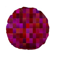 Shapes Abstract Pink Standard 15  Premium Round Cushions