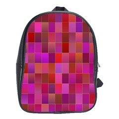 Shapes Abstract Pink School Bags (XL)