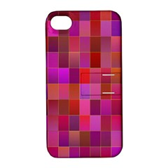 Shapes Abstract Pink Apple Iphone 4/4s Hardshell Case With Stand