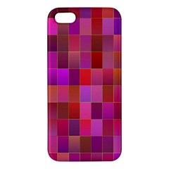 Shapes Abstract Pink Apple iPhone 5 Premium Hardshell Case