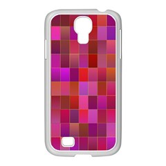 Shapes Abstract Pink Samsung Galaxy S4 I9500/ I9505 Case (white)