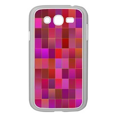 Shapes Abstract Pink Samsung Galaxy Grand DUOS I9082 Case (White)