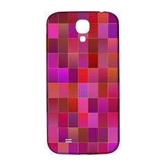 Shapes Abstract Pink Samsung Galaxy S4 I9500/I9505  Hardshell Back Case