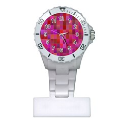 Shapes Abstract Pink Plastic Nurses Watch