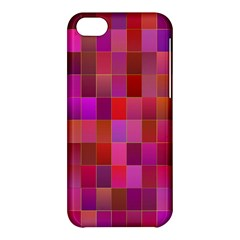 Shapes Abstract Pink Apple Iphone 5c Hardshell Case