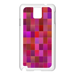 Shapes Abstract Pink Samsung Galaxy Note 3 N9005 Case (white)