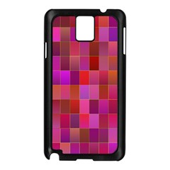Shapes Abstract Pink Samsung Galaxy Note 3 N9005 Case (black)