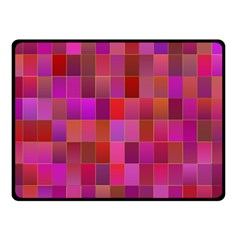 Shapes Abstract Pink Double Sided Fleece Blanket (Small)