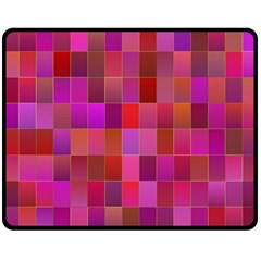 Shapes Abstract Pink Double Sided Fleece Blanket (medium)