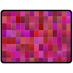 Shapes Abstract Pink Double Sided Fleece Blanket (Large)