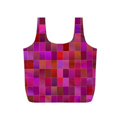Shapes Abstract Pink Full Print Recycle Bags (s)