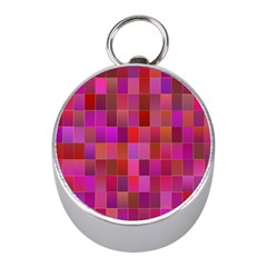 Shapes Abstract Pink Mini Silver Compasses