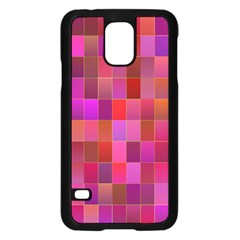 Shapes Abstract Pink Samsung Galaxy S5 Case (black)