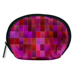 Shapes Abstract Pink Accessory Pouches (medium)