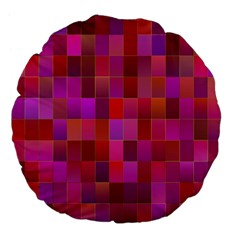 Shapes Abstract Pink Large 18  Premium Flano Round Cushions