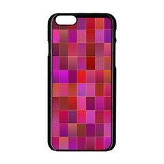 Shapes Abstract Pink Apple Iphone 6/6s Black Enamel Case
