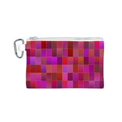Shapes Abstract Pink Canvas Cosmetic Bag (s)