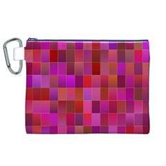 Shapes Abstract Pink Canvas Cosmetic Bag (xl)