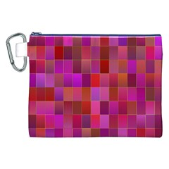 Shapes Abstract Pink Canvas Cosmetic Bag (XXL)
