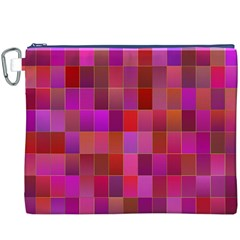 Shapes Abstract Pink Canvas Cosmetic Bag (XXXL)