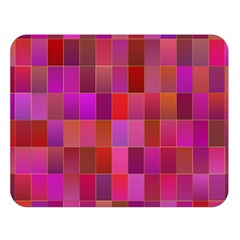 Shapes Abstract Pink Double Sided Flano Blanket (large)