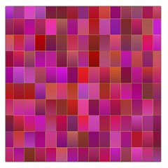 Shapes Abstract Pink Large Satin Scarf (square)