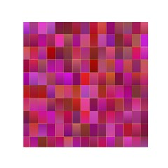 Shapes Abstract Pink Small Satin Scarf (Square)