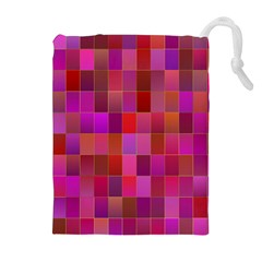 Shapes Abstract Pink Drawstring Pouches (extra Large)