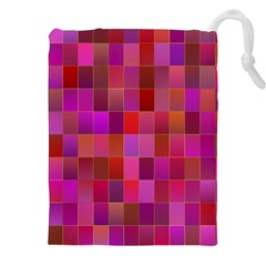 Shapes Abstract Pink Drawstring Pouches (xxl)