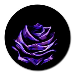 Rose Flower Design Nature Blossom Round Mousepads