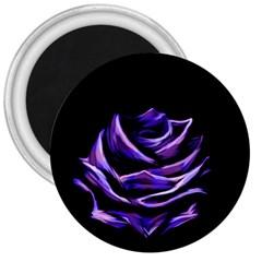 Rose Flower Design Nature Blossom 3  Magnets